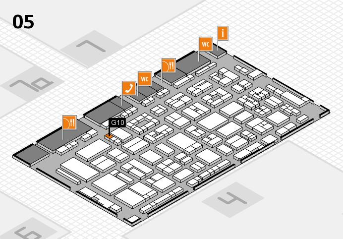 REHACARE 2016 hall map (Hall 5): stand G10