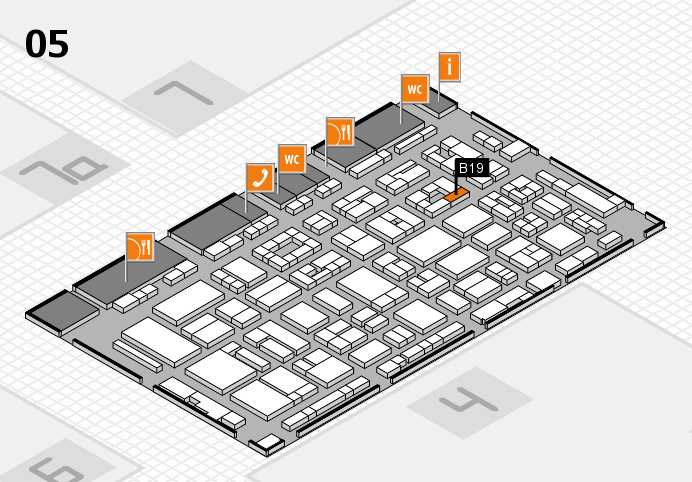 REHACARE 2016 hall map (Hall 5): stand B19