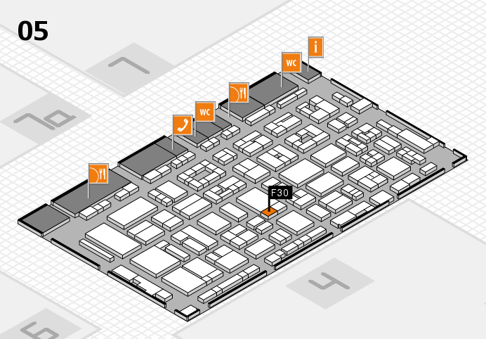 REHACARE 2016 hall map (Hall 5): stand F30