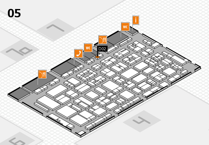 REHACARE 2016 hall map (Hall 5): stand D02