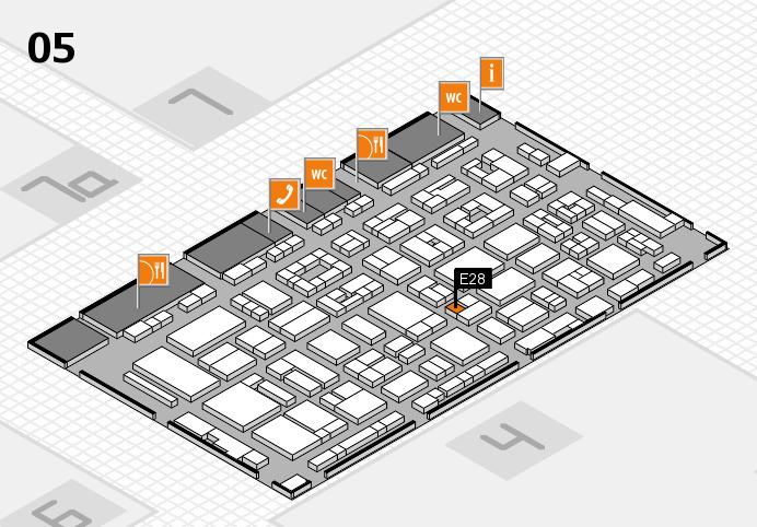 REHACARE 2016 hall map (Hall 5): stand E28