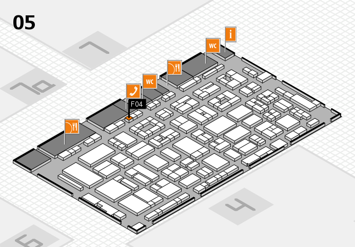 REHACARE 2016 hall map (Hall 5): stand F04