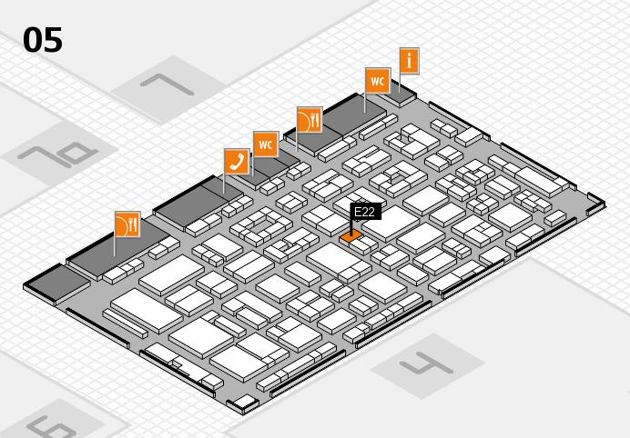 REHACARE 2016 Hallenplan (Halle 5): Stand E22