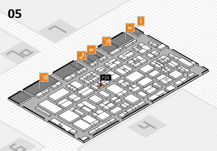 REHACARE 2016 hall map (Hall 5): stand F20