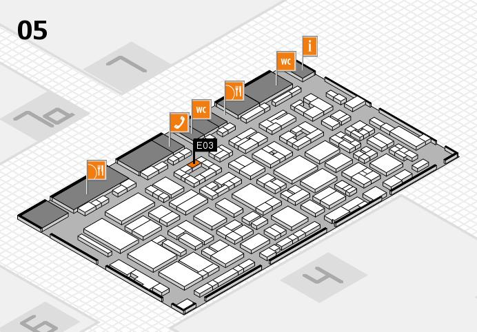 REHACARE 2016 hall map (Hall 5): stand E03