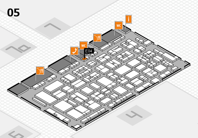 REHACARE 2016 hall map (Hall 5): stand E04