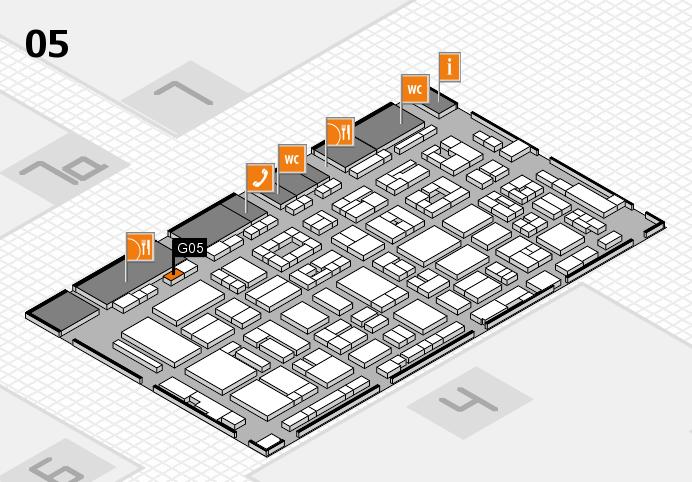 REHACARE 2016 hall map (Hall 5): stand G05
