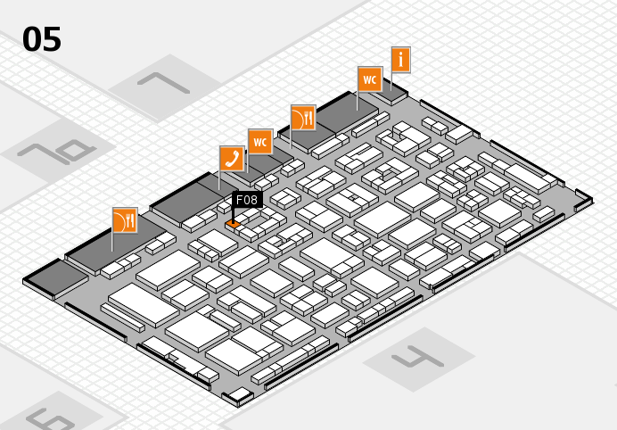 REHACARE 2016 hall map (Hall 5): stand F08