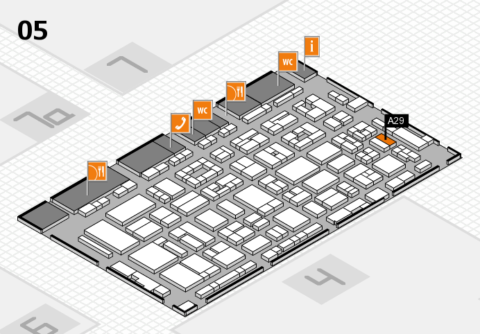 REHACARE 2016 hall map (Hall 5): stand A29