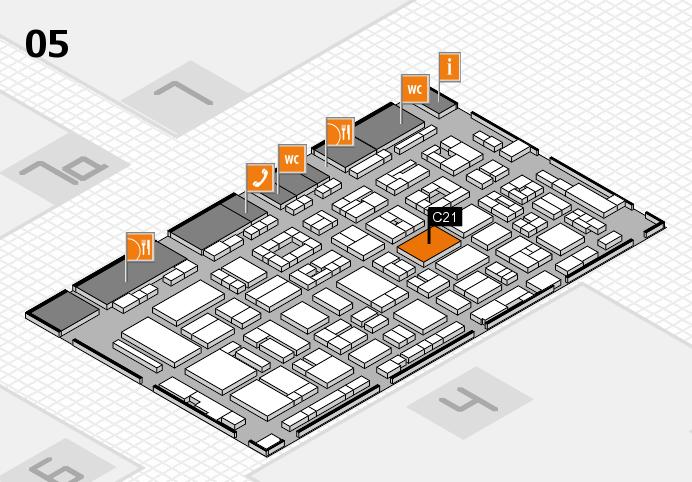 REHACARE 2016 Hallenplan (Halle 5): Stand C21.D22