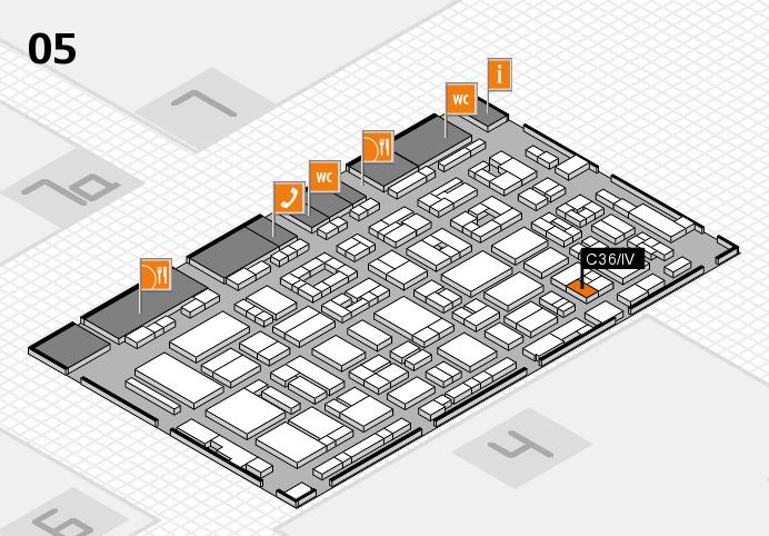 REHACARE 2016 hall map (Hall 5): stand C36.IV