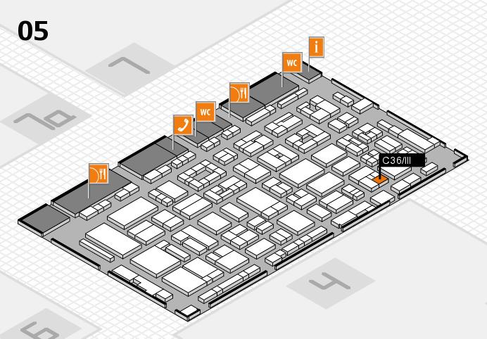 REHACARE 2016 hall map (Hall 5): stand C36.III