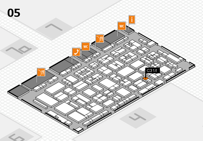 REHACARE 2016 Hallenplan (Halle 5): Stand C31.I