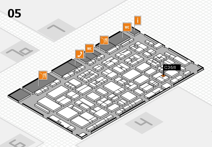 REHACARE 2016 hall map (Hall 5): stand C36.II