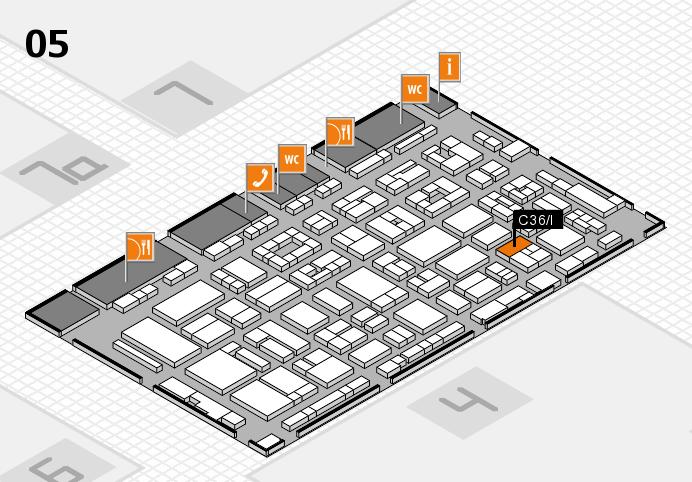 REHACARE 2016 Hallenplan (Halle 5): Stand C36.I