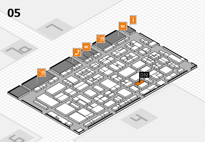 REHACARE 2016 hall map (Hall 5): stand D32