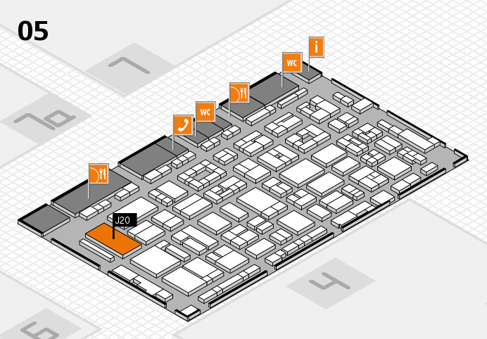 REHACARE 2016 hall map (Hall 5): stand J20