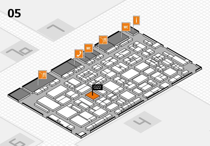 REHACARE 2016 Hallenplan (Halle 5): Stand G22