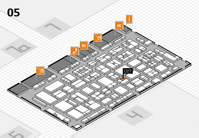 REHACARE 2016 hall map (Hall 5): stand D27