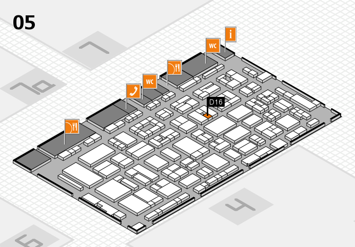 REHACARE 2016 hall map (Hall 5): stand D16