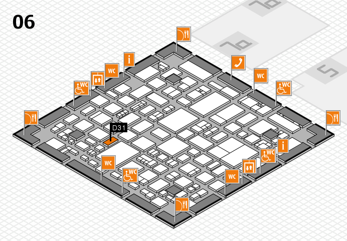 REHACARE 2016 hall map (Hall 6): stand D31
