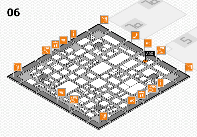REHACARE 2016 hall map (Hall 6): stand A50