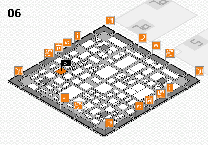 REHACARE 2016 hall map (Hall 6): stand D20