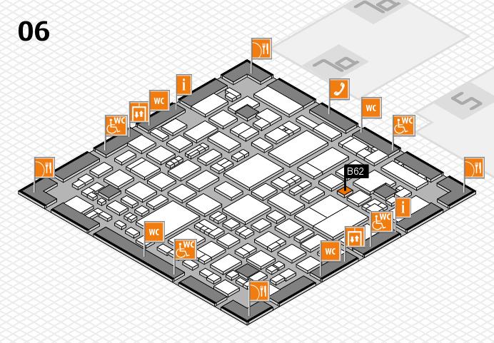 REHACARE 2016 hall map (Hall 6): stand B62