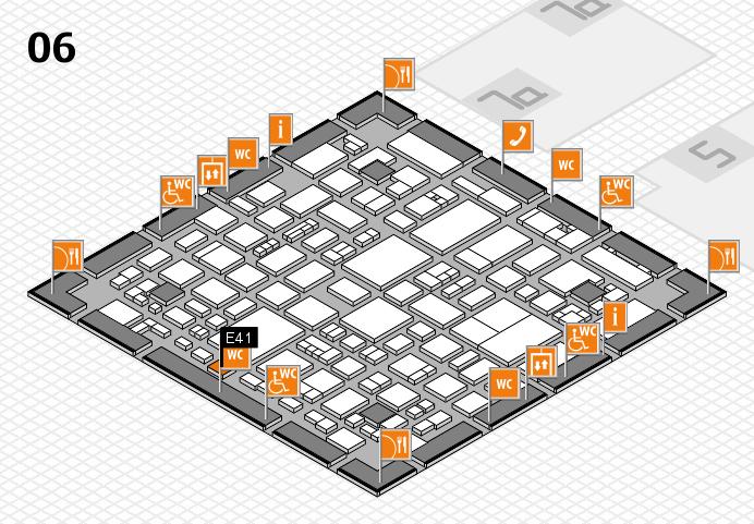REHACARE 2016 hall map (Hall 6): stand E41