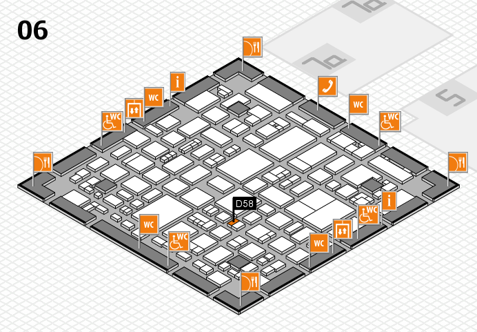 REHACARE 2016 hall map (Hall 6): stand D58
