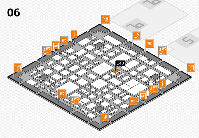 REHACARE 2016 hall map (Hall 6): stand B43