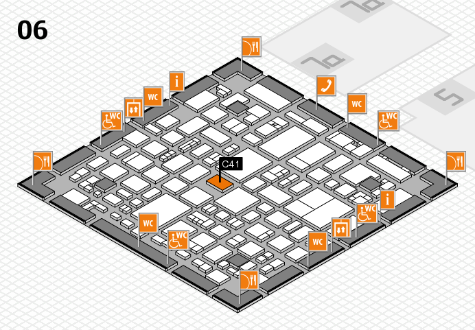REHACARE 2016 hall map (Hall 6): stand C41