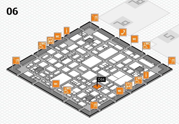 REHACARE 2016 hall map (Hall 6): stand D64