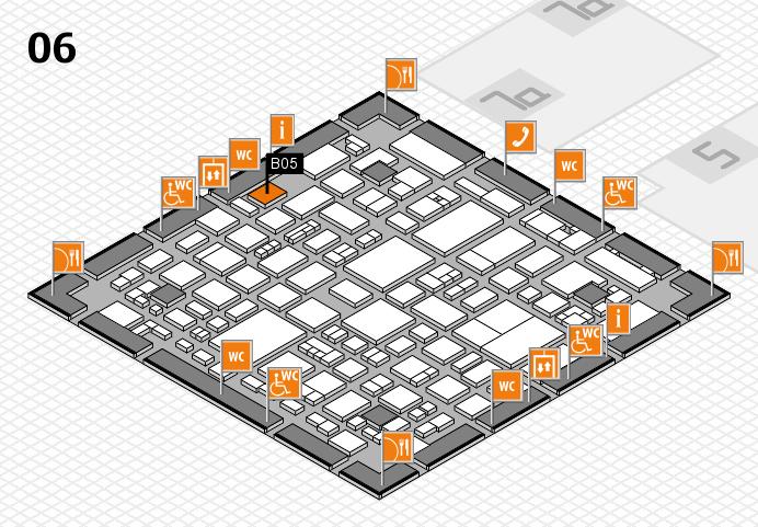 REHACARE 2016 hall map (Hall 6): stand B05
