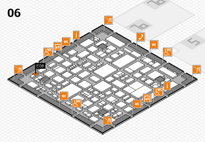 REHACARE 2016 hall map (Hall 6): stand E08