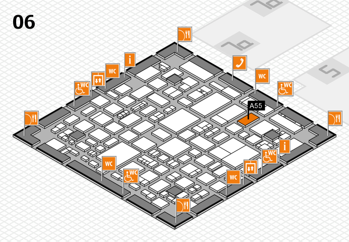 REHACARE 2016 hall map (Hall 6): stand A55