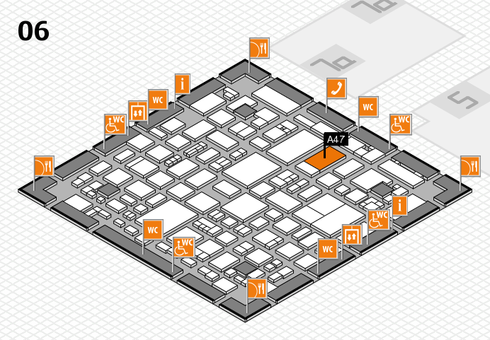 REHACARE 2016 hall map (Hall 6): stand A47