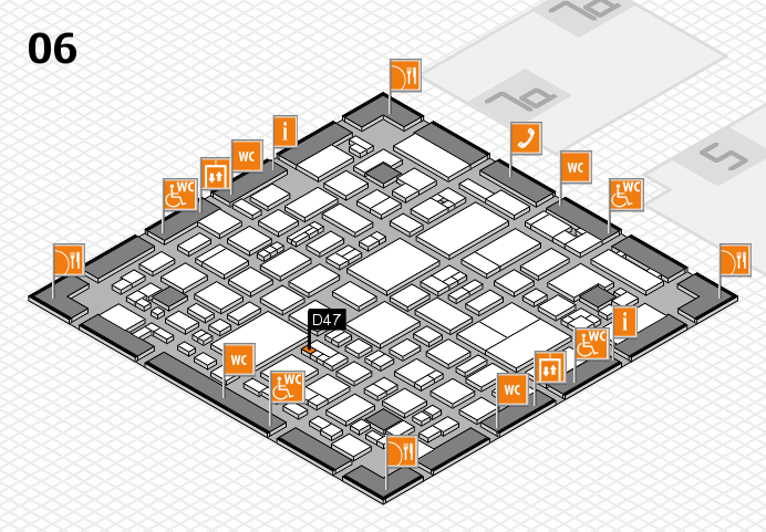 REHACARE 2016 hall map (Hall 6): stand D47