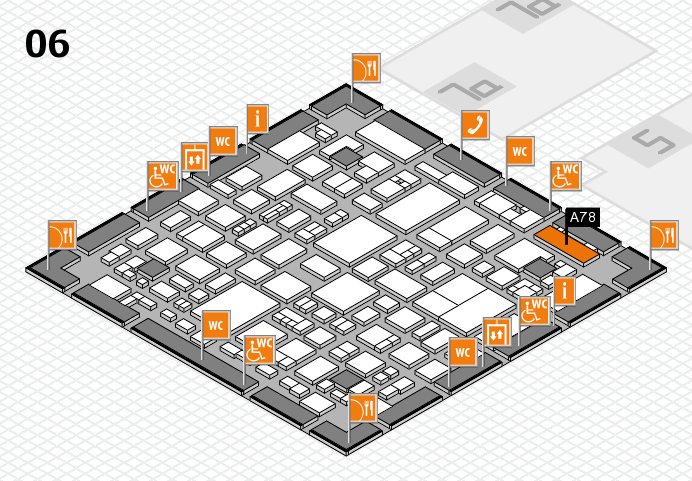 REHACARE 2016 hall map (Hall 6): stand A78