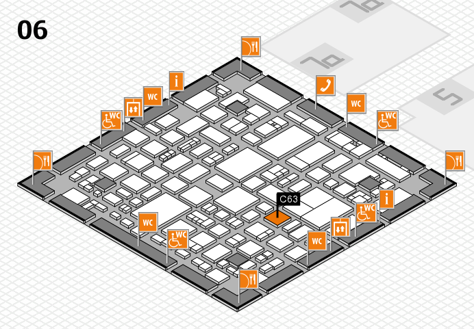 REHACARE 2016 hall map (Hall 6): stand C63
