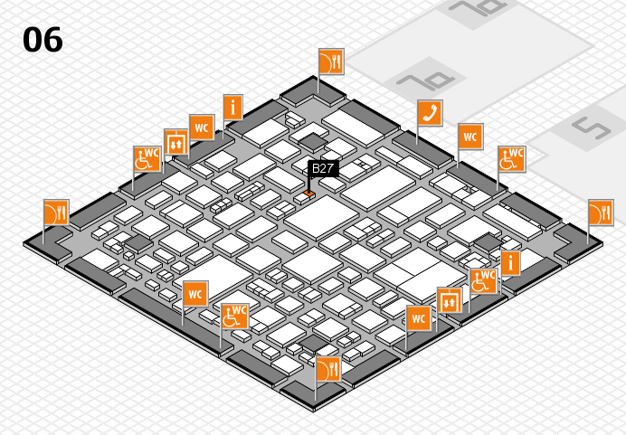 REHACARE 2016 hall map (Hall 6): stand B27