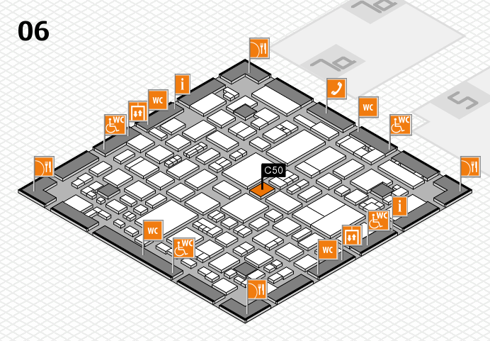 REHACARE 2016 hall map (Hall 6): stand C50