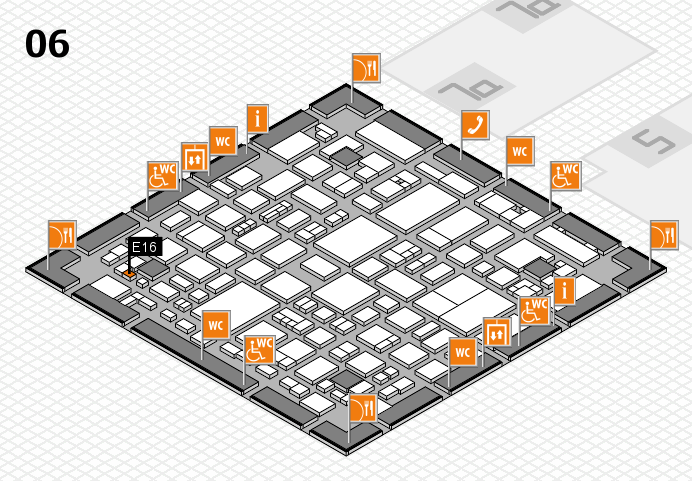 REHACARE 2016 hall map (Hall 6): stand E16