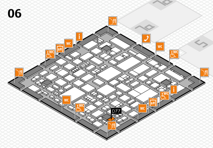 REHACARE 2016 hall map (Hall 6): stand D77