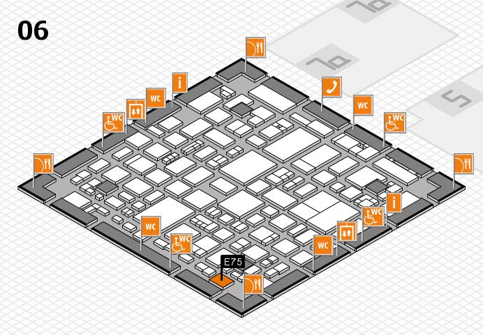 REHACARE 2016 hall map (Hall 6): stand E75