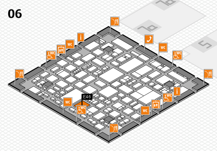REHACARE 2016 hall map (Hall 6): stand E46