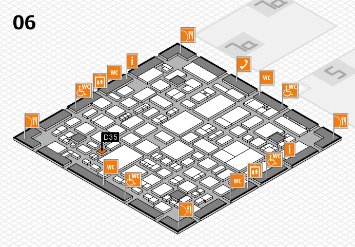 REHACARE 2016 hall map (Hall 6): stand D35