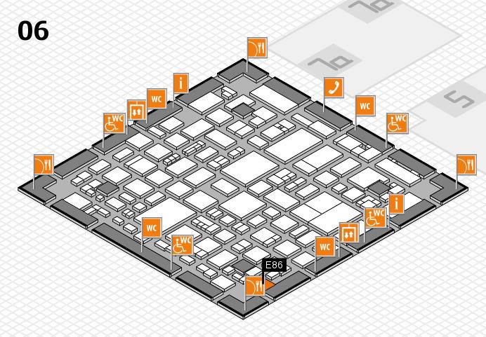 REHACARE 2016 hall map (Hall 6): stand E86
