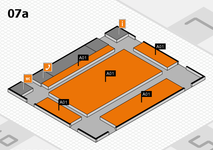REHACARE 2016 hall map (Hall 7a): stand A01