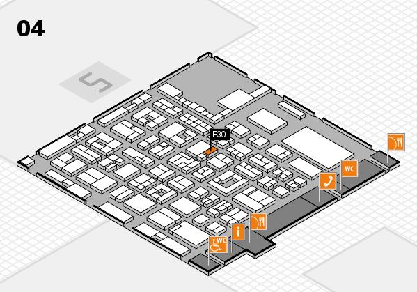 REHACARE 2017 hall map (Hall 4): stand F30